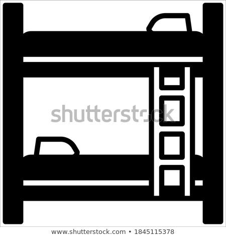 близнец кровать простой икона белый медицинской Сток-фото © tkacchuk