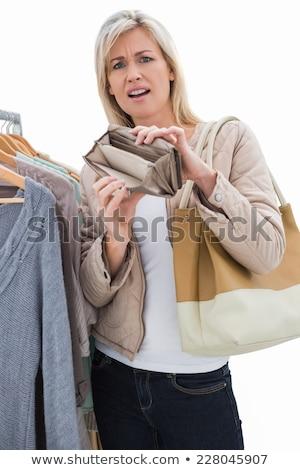 Güzel boş çanta beyaz Stok fotoğraf © wavebreak_media