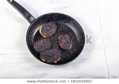 Palacsinta serpenyő részlet eszik forró szakács Stock fotó © olandsfokus