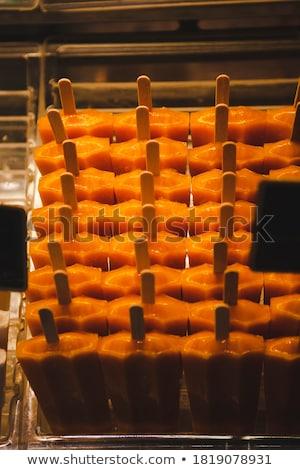 オレンジ アイスクリーム 典型的な シチリア島 イタリア 食品 ストックフォト © Photooiasson