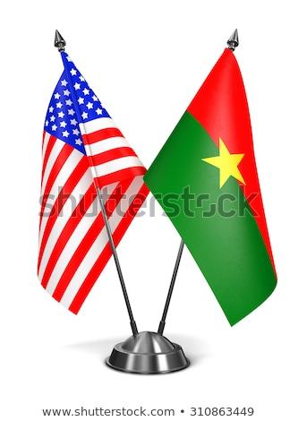 USA and Burkina Faso - Miniature Flags. Stock photo © tashatuvango