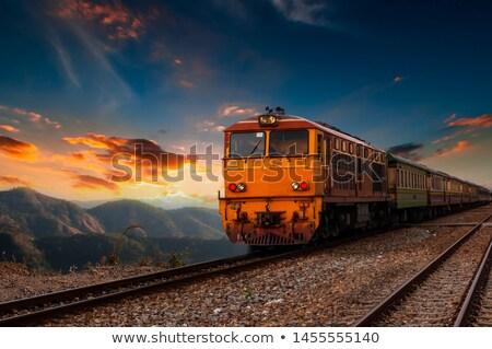 дизельный поезд два небе пейзаж лет Сток-фото © remik44992