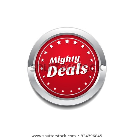 Mighty Deals Red Vector Icon Button Stock photo © rizwanali3d