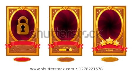 rangsor · címke · kitűző · terv · arany · vektor - stock fotó © rizwanali3d