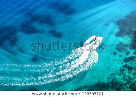 Ionica mare barche fila Grecia acqua Foto d'archivio © Lighthunter