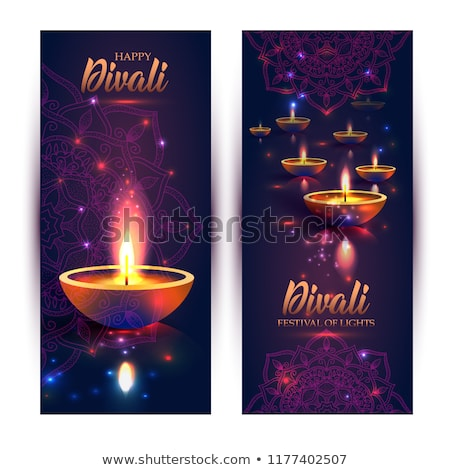 bright diwali card in vector format stock photo © piccola