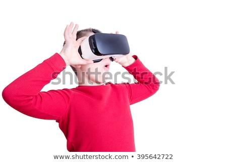 ребенка глядя виртуальный реальность очки серьезный Сток-фото © ozgur