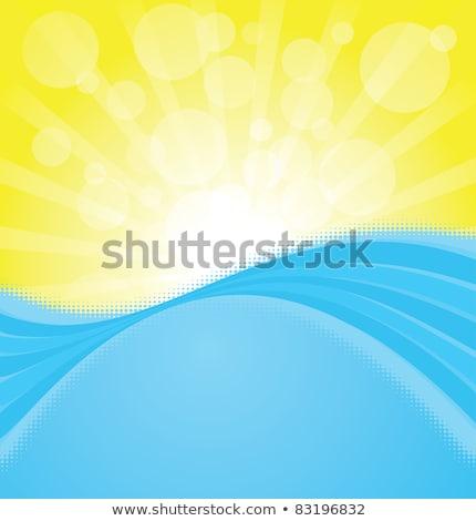 Fellobbanás kék ég eps vektor akta víz Stock fotó © beholdereye