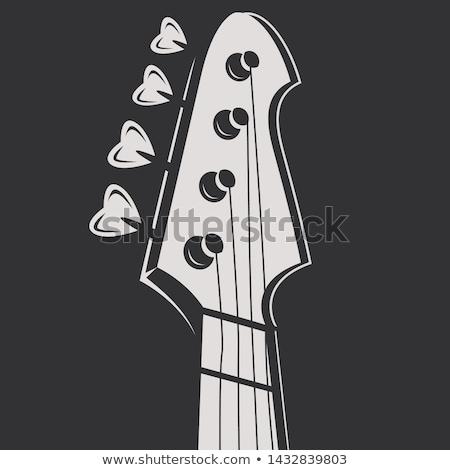 Hoofd gitaar krijt icon Stockfoto © RAStudio
