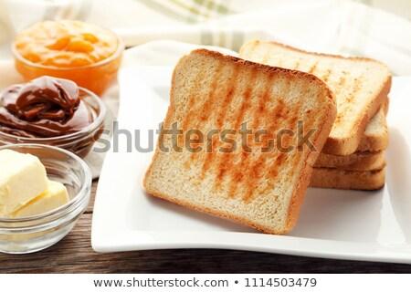 ızgara tost ekmek yalıtılmış beyaz doku Stok fotoğraf © karandaev