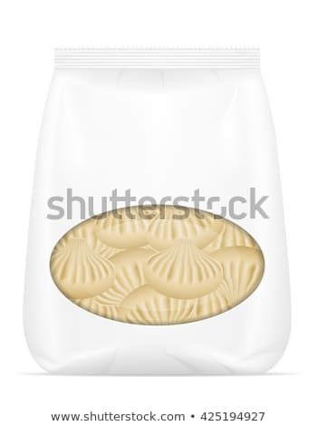 dumplings vareniki of dough with a filling in packaged vector il Stock photo © konturvid