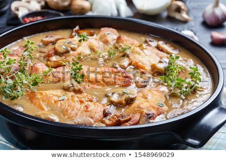 рыбы · чеснока · соус · коричневый - Сток-фото © yelenayemchuk