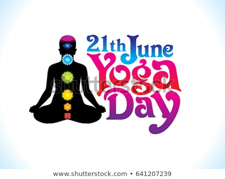abstract artistic yoga day background Stock photo © pathakdesigner