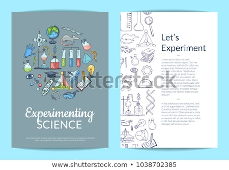 A plain sketch of a science experiment Stock photo © bluering