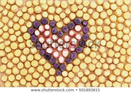 radis · rouge · couteau · noir · planche · à · découper - photo stock © ozgur