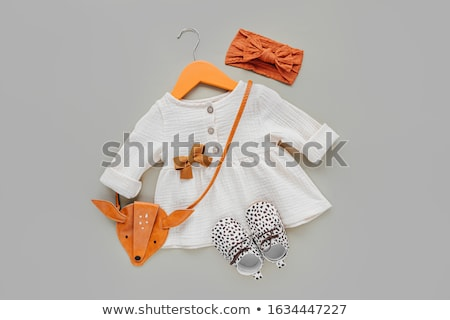 Laranja bebê vestir menina fundo Foto stock © RuslanOmega