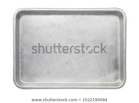 Alluminio vassoio usato alimentare illustrazione sfondo Foto d'archivio © bluering