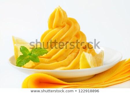 Swirl Zitrone Sahne gelb Obst Dessert Stock foto © Digifoodstock