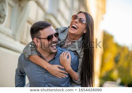 beautiful couple in the city Stock photo © tekso
