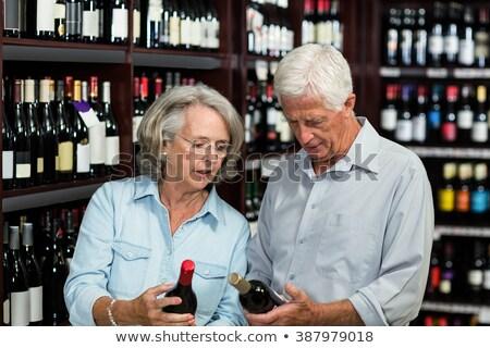 Senior Couple Choosing Wine Stock photo © IS2
