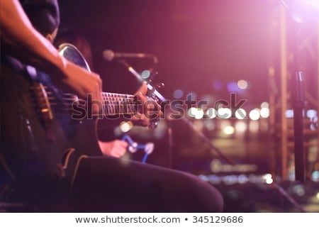 Yaşamak müzik göstermek kamu kalabalık arka plan Stok fotoğraf © carloscastilla