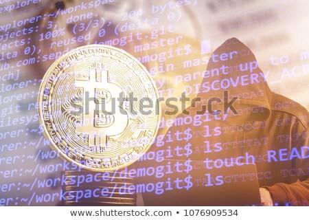 Computer hacker bitcoin technologie monetair business Stockfoto © stevanovicigor