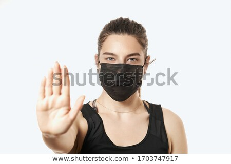 Nurse and girl in protective mask Stock photo © IS2