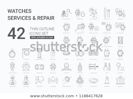 Parts of a watch in workshop Stock photo © wavebreak_media