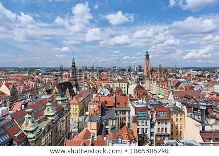 église · Pologne · bâtiment · architecture · ville · extérieur - photo stock © benkrut