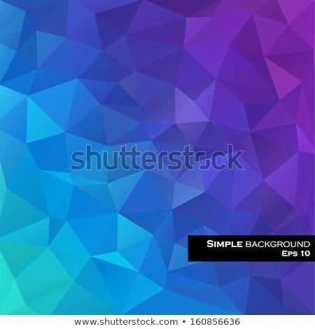 Kék absztrakt gyémánt téglalap forma vektor Stock fotó © cidepix