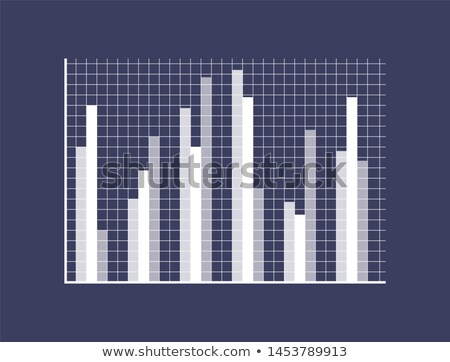 Graphic Chart with Thin Bars on Checkered Field Stock photo © robuart