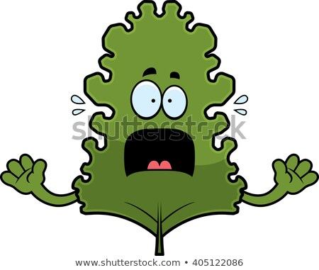 Scared Cartoon Kale Leaf Stock photo © cthoman