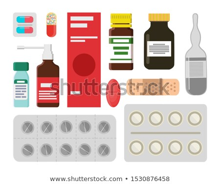 Pills and Liquids to Treat Illnesss and Ease Pain Stock photo © robuart