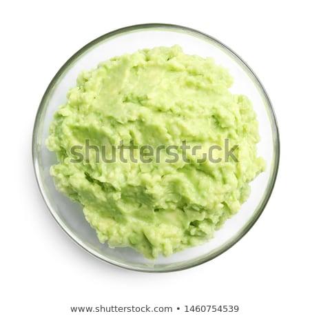 üveg tál étel háttér zöld zöldség Stock fotó © Alex9500