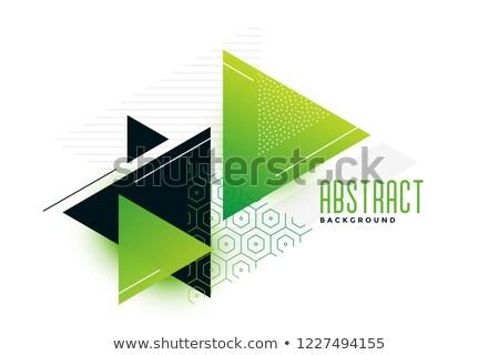 stylish green theme triangles memphis background Stock photo © SArts