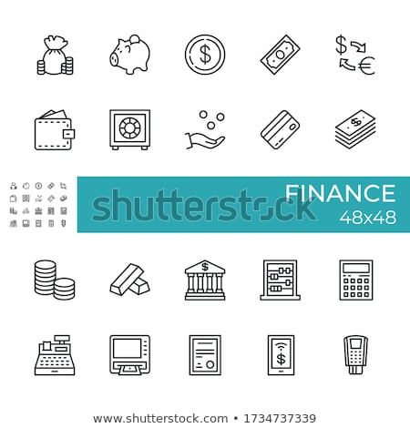 Cash vak munten business nota Stockfoto © Zerbor