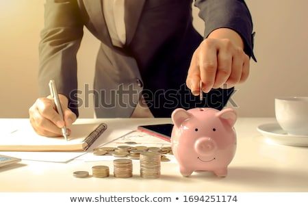 Dinheiro marido esposa família financiar Foto stock © yongtick