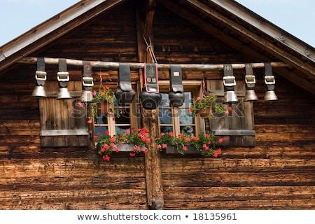 decorative old wooden windows from bern switzerland stock photo © boggy