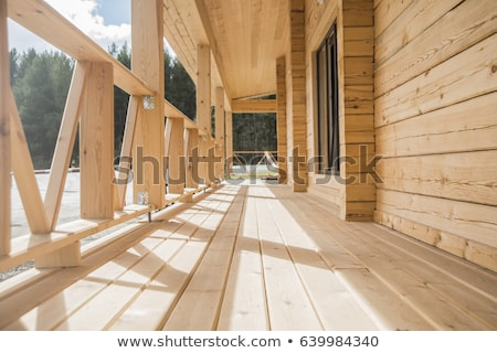 Old house made of wood Stock photo © colematt