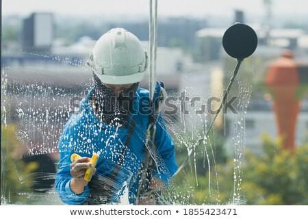 женщину стекла воды влажный синий диета Сток-фото © dolgachov