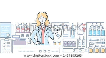pharmacy   modern line design style web banner stock photo © decorwithme