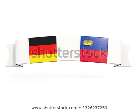 Banner with two square flags of Germany and liechtenstein Stock photo © MikhailMishchenko