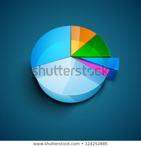 3D zakenman cirkeldiagram 3d illustration man aktetas Stockfoto © ribah
