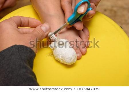 Mais fasciatura dita dei piedi dito basso sezione Foto d'archivio © AndreyPopov