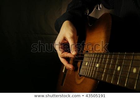 Rock chitarra strumento acustico elettrici Foto d'archivio © vector1st