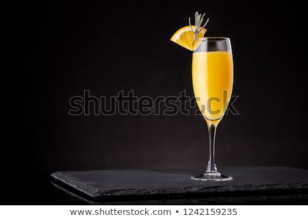 One glass of champagne decorated with lavender Stock photo © dashapetrenko