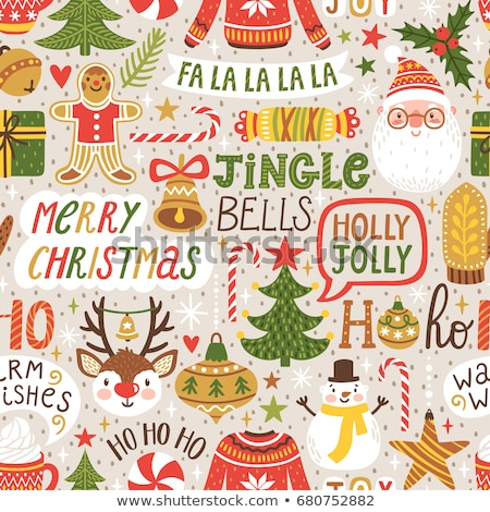 Jingle Bells and Holly Jolly Greetings, Christmas Stock photo © robuart