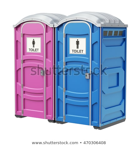 mobile blue toilets Stock photo © reticent