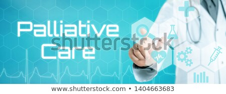 Doctor touching an icon on a futuristic interface - Palliative c Stock photo © Zerbor