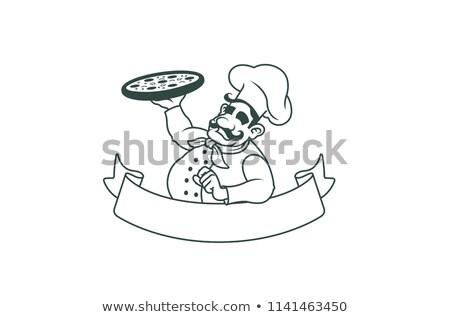 счастливым · сыра · мультфильм · талисман · характер - Сток-фото © hittoon